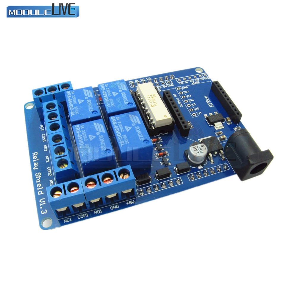AC 240V 3A 4 Channel Wireless Relay Module Bluetooth Bee Relay Shield Expansion Board Switch For Arduino HomeApp relay shield v1 0 5v 4 channel relay module for arduino works with official arduino boards