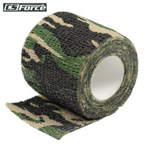 2016 Outdoor Camouflage 5m Adhesive Tape Army Camo Wrap Rifle Jagt Skydder Tool Stealth Tape Gratis forsendelse Vandreture Camping
