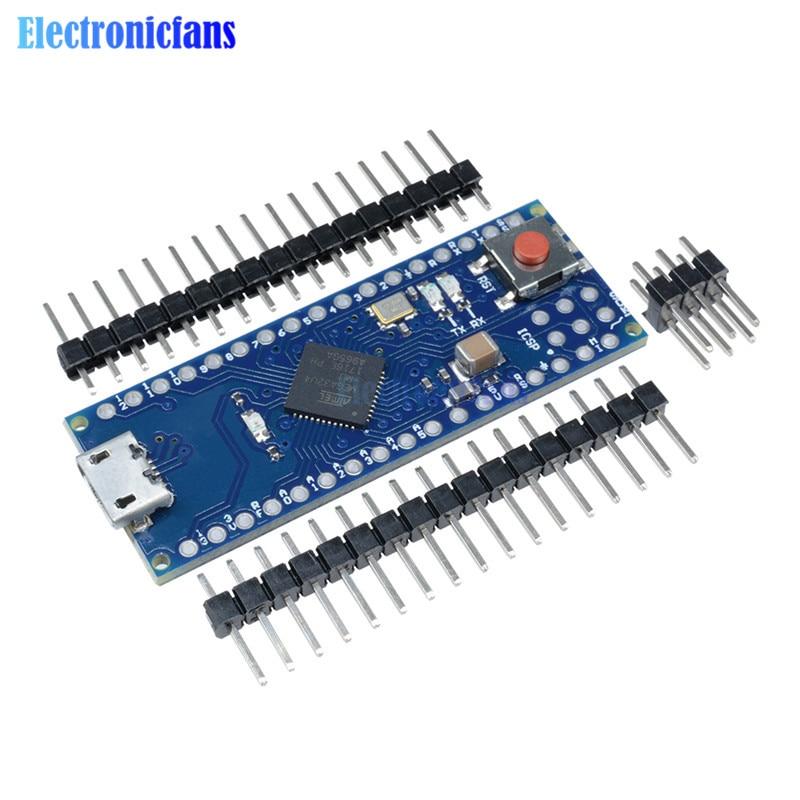 Pro Micro ATmega32U4 5V 16MHz Módulo de placa reemplazar Pro Mini ATmega328 microcontrolador de 4 canales con cabeza de pernos para Arduino