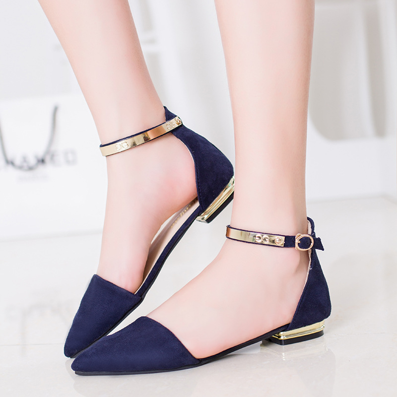 Buy 2016 Women Fashion Sandals A Low Flat Shoes Buckle Sandals Word Europe