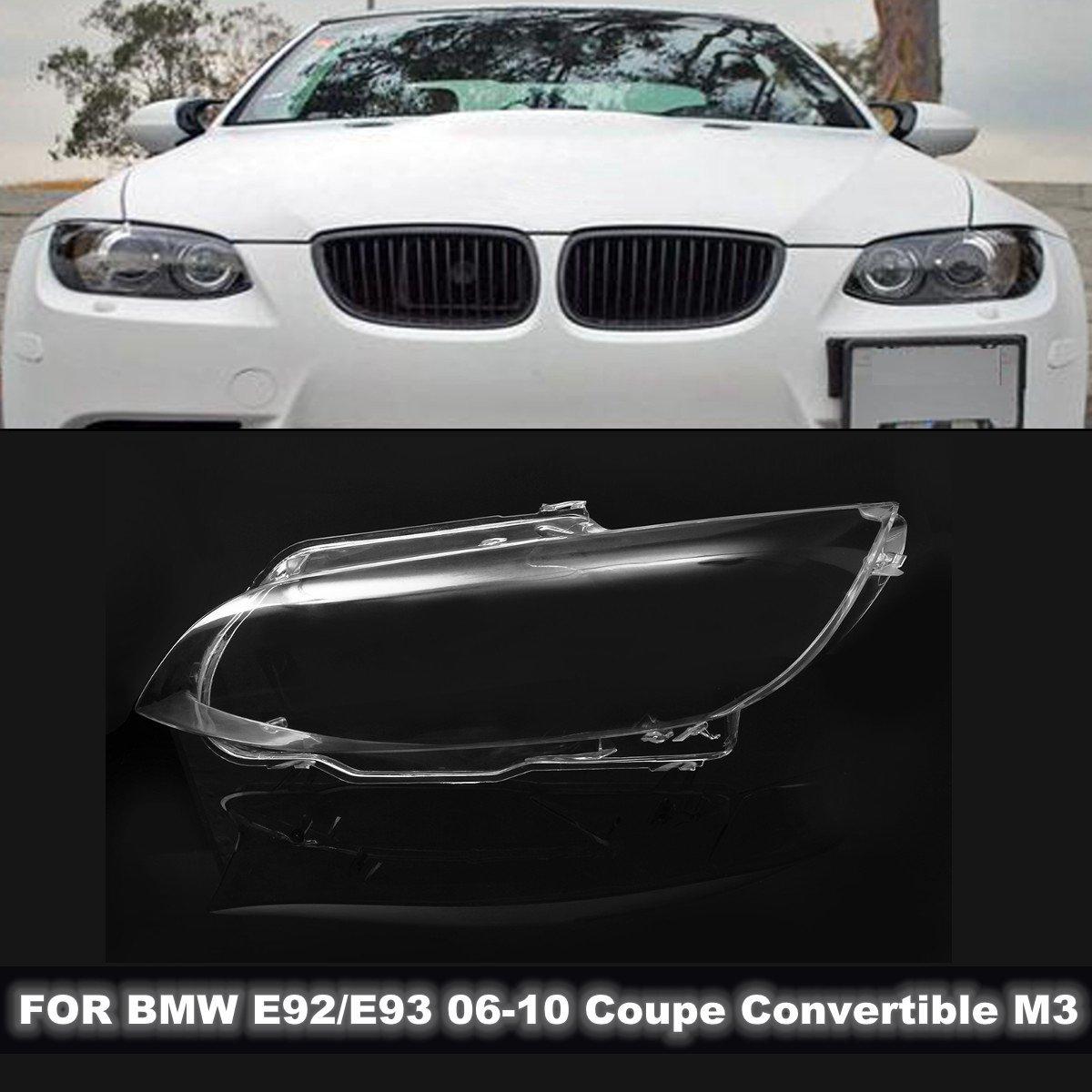 1 pcs Voiture Phare de Phare Lens Cover Gauche/Droite pour BMW E92 E93 Cabriolet Coupé M3 06-10