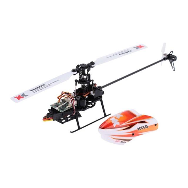 XK K110 Blast Sistema 3D6G 6CH Brushless RC Helicóptero BNF