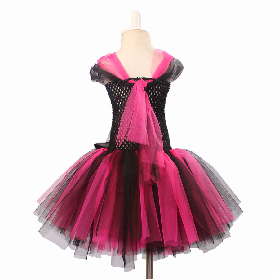 Keenomommy Super Cute Super Hero Tutu Costume Hot Pink Batgirl Girls Tutu Dress with Mask for Cosplay Party Halloween (8)