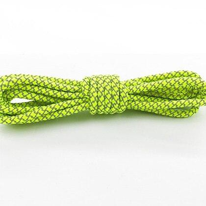 Leyou 100-160cm люминесцентная лампа кроссовки шнурки спортивные шнурки 3м Reflective круглые веревочные шнурки светлые шнурки Led - Цвет: Bright yellow