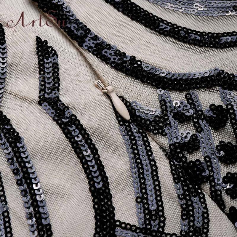 Women Spring Maxi Vestido Apricot Dresses Backless Geometric Party Sequined Sexy Artsu De Festa Dress 2018 Long Asdr30611 08PnT