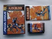 ¡Juego MD: Alien Soldier (versión japonesa! Caja + manual + cartucho!)