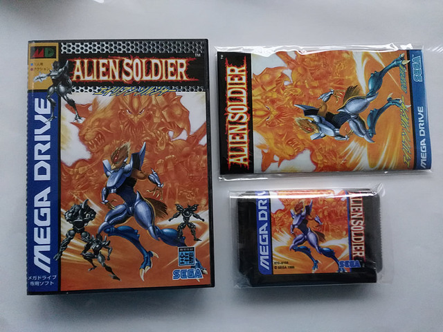 Md jogo: soldado alienígena (versão japão! Caixa + manual + cartucho!)