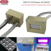 100 Вт UV LED модуль УФ отверждения геля Лампы для мотоциклов, экспозиция печатной платы машины, ультрафиолетового обеззараживания оборудовани