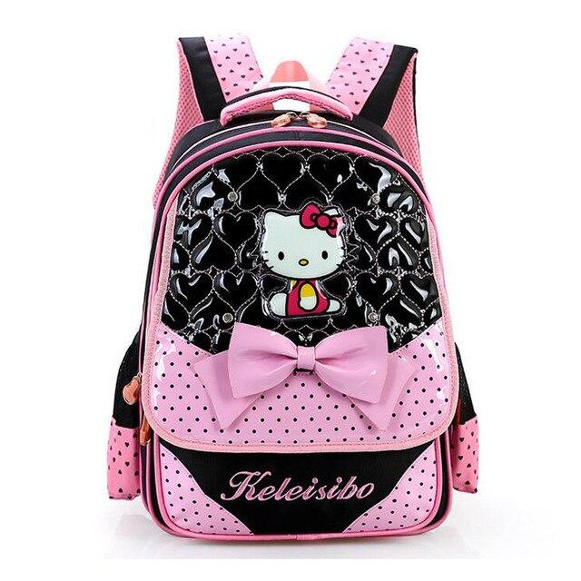 O Kitty Primary School Bags For S Fashion Backpac Children Lovely Bookbag Kids Schoolbag Mochila