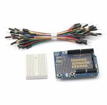 Prototype Shield ProtoShield for Arduino+Mini Breadboard+65pcs Jumper Cable Wire