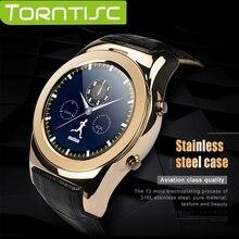 Torntisc A8S Bluetooth 4.0 Ronda Reloj Inteligente Usable Dispositivos de Apoyo Heart Rate Monitor SIM TF Tarjeta Para Apple IOS Android teléfono