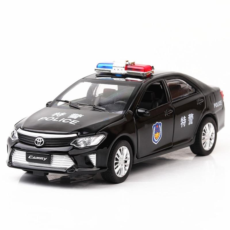 1:32 Toyota Camry veículo especial Criança pull-back ferramentas do brinquedo veículo modelo de carro liga de simulação artesanato decoração coleção