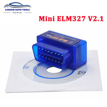 2018 Super Mini ELM327 Adaptor Bluetooth Elm 327 V2.1 Auto Kode Scanner Alat Diagnostik Mobil OBD2 ELM327 Mendukung Protokol OBDII(China)