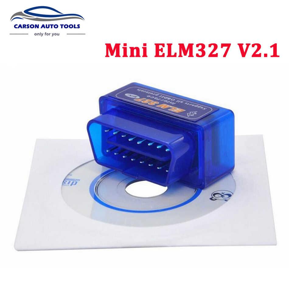 Newes Siêu Mini ELM327 Adapter Bluetooth ELM 327 V2.1 Tự Động Mã Xe Công Cụ Chẩn Đoán OBD2 ELM327 Hỗ Trợ Các Giao Thức OBDII