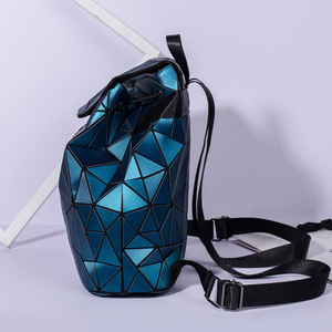 Image 2 - 2019 Fashion Matte Women Backpack Female Black Backpacks Daily Backpack For Girls Geometry Luminous Bagpack Noctilucent Bags Sac