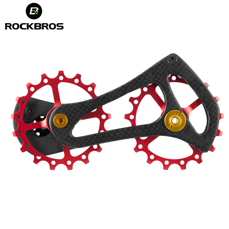 ROCKBROS Bike Bicycle Rear Derailleur Pulleys Carbon Fibre Wheel Road Bike Jockey Fit Shimano 4600 4700 5700 5800 105 <font><b>Tiagra</b></font> image