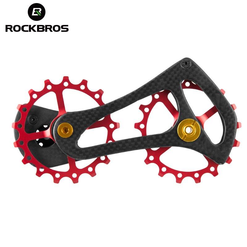 ROCKBROS Vélo Vélo Arrière Dérailleur Poulies Carbone Fibre Roue Route Vélo Jockey Fit Shimano 4600 4700 5700 5800 105 Tiagra