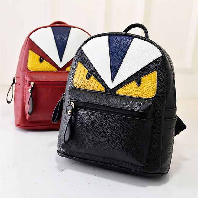 Women s Backpack Designer Black Cartoon Eyes Monster Backpacks Travel Bag  Cute Backpacks For Teenage Girls 2d4c709ec7380