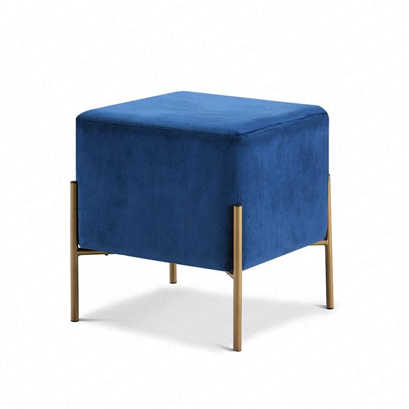 Multifunctional Storage Stool Modern Minimalist Shoe Bench Sofa Combination Small Square Personality Living Room Fabric