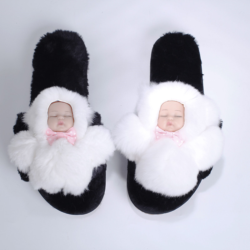 Home Slippers For Women 2017 Basic Winter Warm And Cozy Flock Flat Shoes Faux Fur Soft Cute Baby Shoes Indoor Women SA16 недорго, оригинальная цена