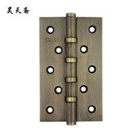 [هاو تيان نباتي] مربع الباب المفصلي الصينية العتيقة النحاس الباب 12.5 سنتيمتر الخمار تتزامن الصفحة (المفصلي)|door hinge|hinges doordoor hinges antique -