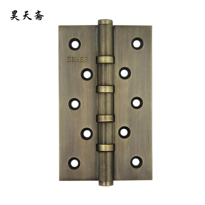 [Haotian vegetarian] box door hinge Chinese antique brass door 12.5cm muffler coincide page (hinge) [haotian vegetarian] antique chinese brass coat detachable door hinge hinge small 9cm