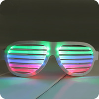 LED Glow Sound Control Glasses Rechargeable Multicolored Light Flashing Musical Shades Sound Activated Club Bar Dancing