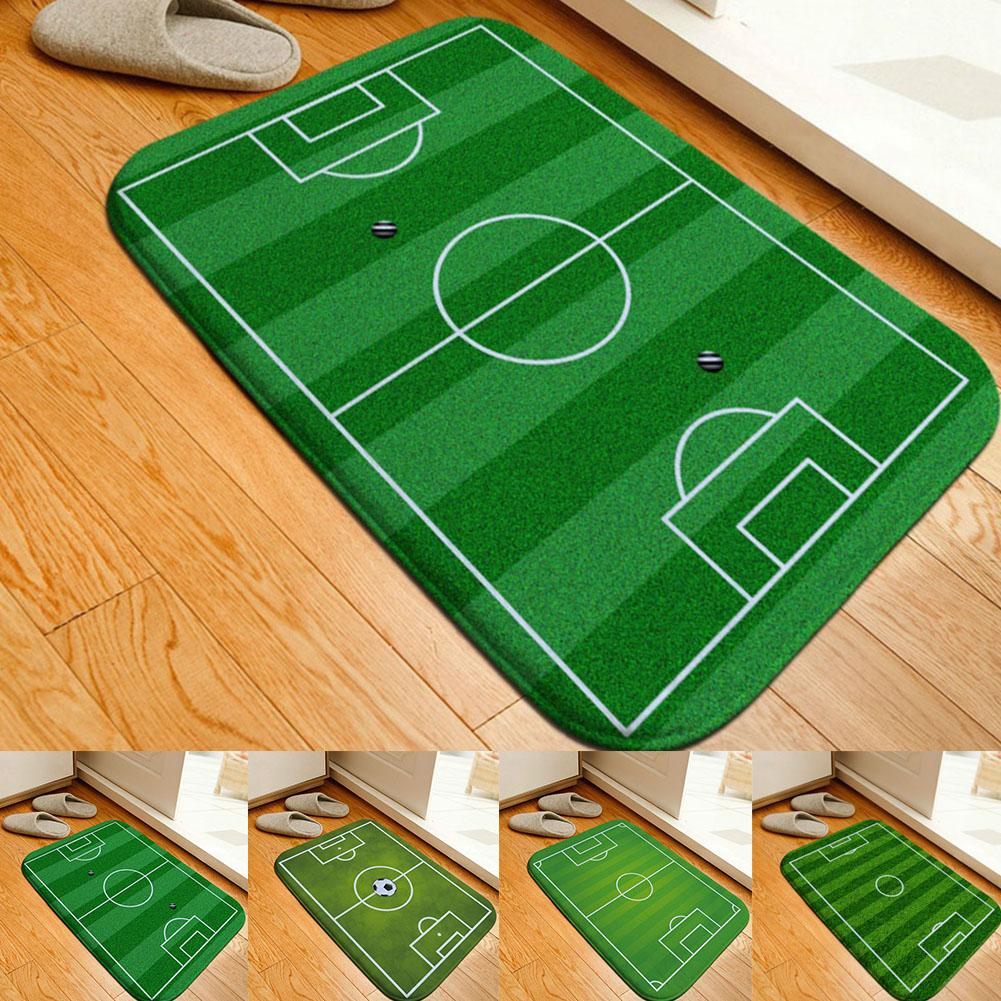 World Cup Football Field Ground Floor Mat Decor Reusable Washable Rug Carpet Mat Flannel Anti-skid Entry Doormat Bedroom Carpet