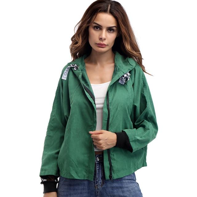 Green coloured bomber jacket