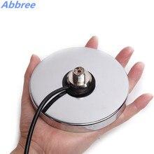 NB 120 soporte magnético fuerte de fondo plano (diámetro de base: 12CM) Cable Coaxial negro/plateado de 5M para antena de Radio de vehículo móvil