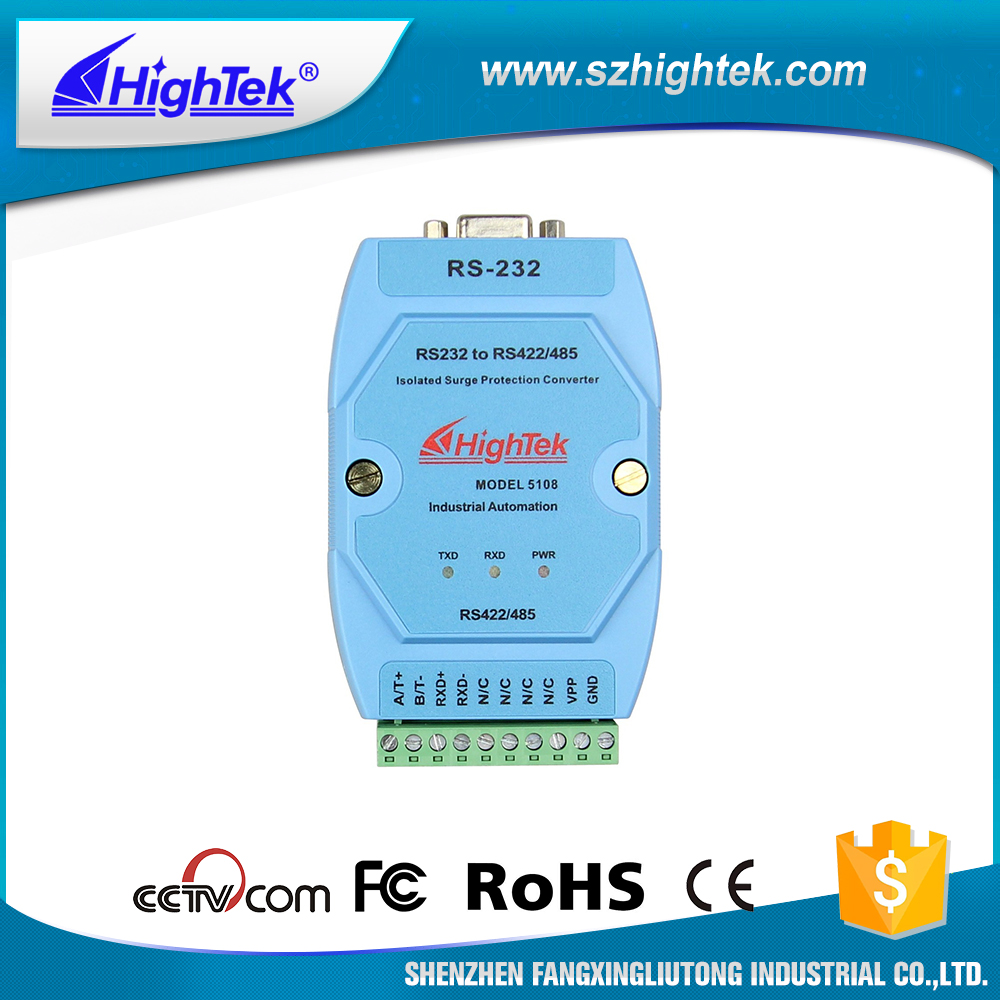 HighTek HK-5108 Industrial grade Rs232 To Rs485/422 Active Isolated Interface Converter ...