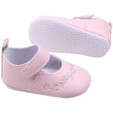 2016 New Kid Girl Pu Leather Princess Crib Shoes Newborn Comfy Outdoor Baby Shoe 0-1 Years 4 Colors
