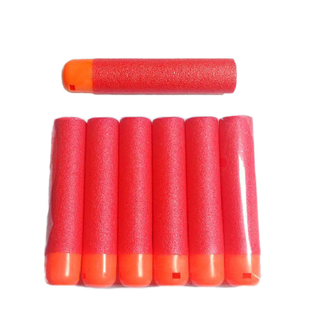 Sıcak satış EVA yumuşak 9.5x2cm kırmızı keskin nişancı tüfeği mermi dart Nerf çocuk oyuncak tabanca köpük dolum dart büyük delik kafa mermi