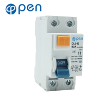 2P 63A 30mA Leakage Circuit Breaker  Residual Current RCCB leakage Short Protection