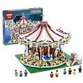 3263PCS 15013 City Street Creator Carousel Model Building Kits figureset Blocks Toy 10196 Birthday Compatible With bricks