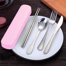 Высокое качество, 4 шт., портативные палочки вилка ложка, нож, набор столовых приборов для путешествий, инструмент для еды, продукт,, бытовой, в режиме ожидания, 19APR9