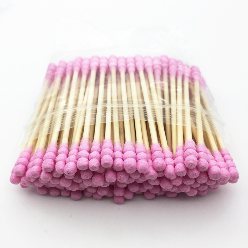 100pcs/ Pack Double Head Cotton Swab Women Makeups Cotton Buds Tip For Medical Wood Sticks Nose Ears Cleaning Health Care Tools