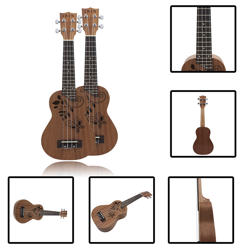 IRIN 21 Inch Hollowed Carved Ukulele Mini Guitar Stringed Instruments Gift For Music Lovers Professional Musical pattern thicken waterproof soprano concert tenor ukulele bag case backpack 21 23 24 26 inch ukelele accessories guitar parts gig