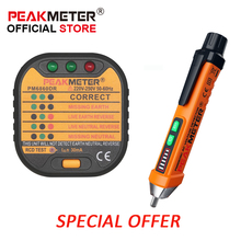 Digital Socket Tester 110v 220V with GFCI RCD and Pen type Non Contact Voltage Tester for Electric electrical Power tester