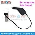 Автомобильное Зарядное Устройство Зарядное Устройство для DJI Phantom 3 Стандартный/Расширенный/Профессиональный Черный Цвет