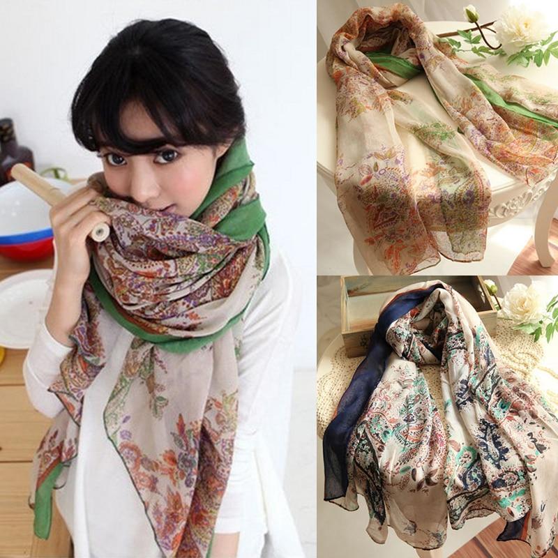 Women   Scarves   Soft Silk Floss   Scarf     Wrap   Shawl Scarve Hijab Foulard Bufanda Stole Pashmina Xmas Gift Striped Dot Shawls Bandana