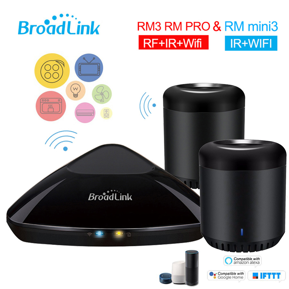 Broadlink RMPro+ RM Mini 3 WiFi+IR+RF Control for Alexa Google Home IFTTT Smart Home 315/433Mhz APP Remote Control AU/UK/EU/US