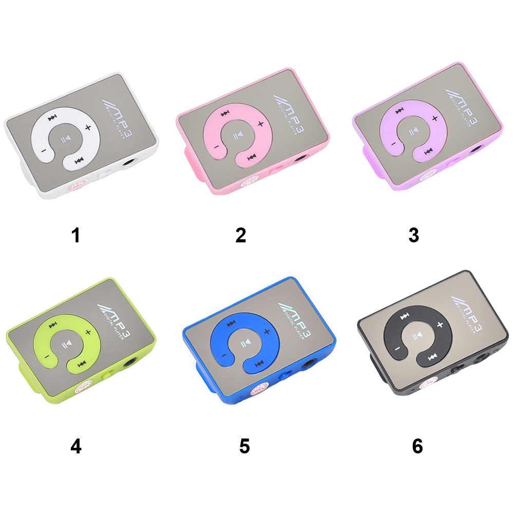 Espelho Esportes Portáteis À Prova D' Água Botão C Clipe Digitais MP3 Jogador Cartão TF Mini Música