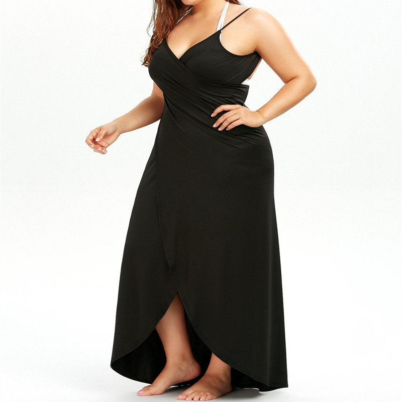 Plus Size Pareo Beach Cover Up Wrap Dress Bikini Swimsuit Bathing Suit Cover Ups Robe De Plage Beach Wear Tunic kaftan Swimwear 2