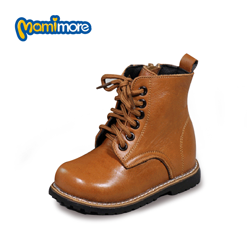 2 Colors Waterproof Toddler Boots 2017 Winter New Children Shoes Leather Martin Boots For Boys and Girls Rubber Sewing Hot Sale new arrival fashion martin boots parents shoes and children shoes dull polish girls shoes genuine leather boys shoes kids boots
