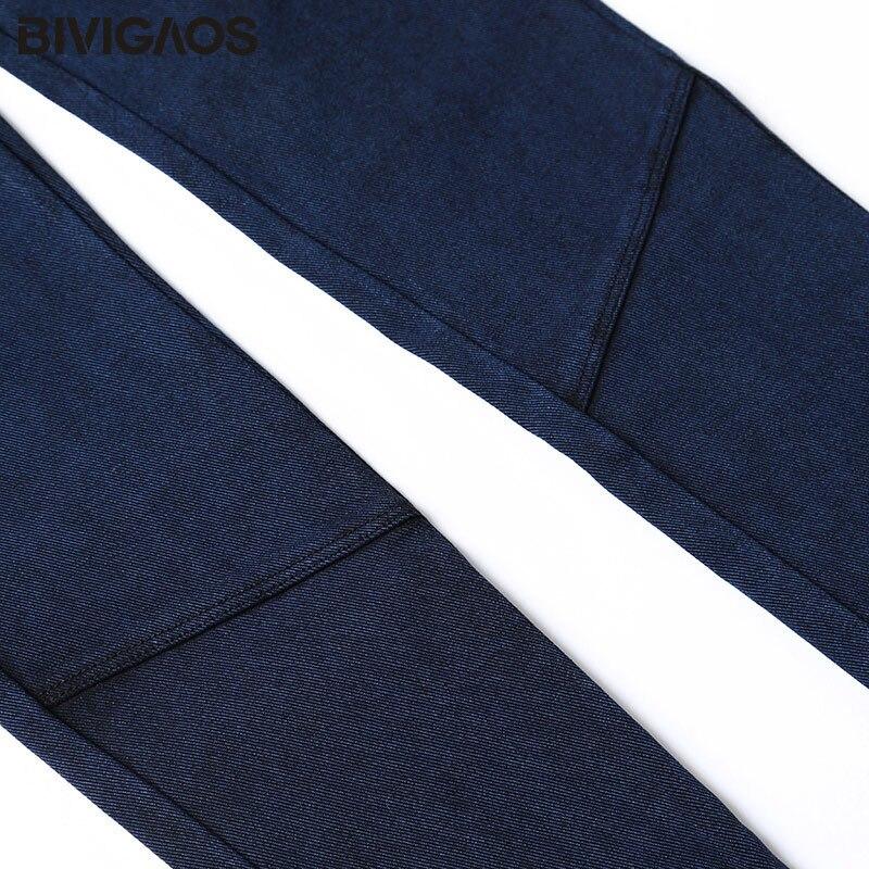 BIVIGAOS Kadınlar Jeans Tayt Casual Moda Skinny Slim Yıkanmış - Bayan Giyimi - Fotoğraf 6