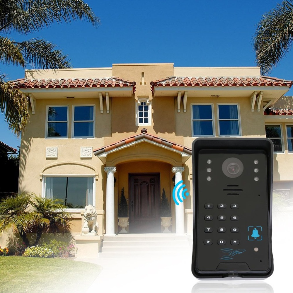 Digital Video Auto Door Viewer eye Doorbell Peephole Intercom IR Camera Monitor Rermote Control Motion Detection Night vision цена