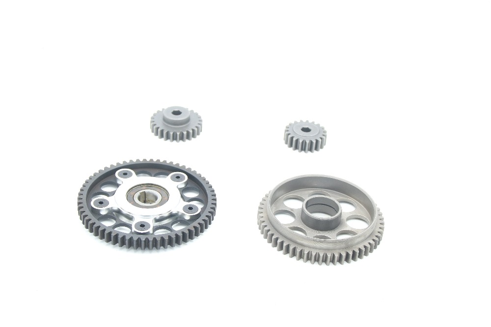 58T/19T and 53T/24T Metal Gear Set for 2 Speed Gear System for 1/5 Losi 5ive T RC CAR PARTS split front wheel differential speed metal shell for losi 5ive t 1pc red silver can choose