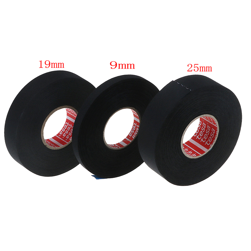 5 Roll TESA 51036 19mm x 25m Adhesive Cloth Fabric Tape for wiring harnesses