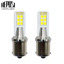 2x 1156 Car LED Rear Reversing Tail Bulb P21W BA15S 3030 12smd signal light backup lamp sourcing white 12W 12V 24V Car styling цена и фото